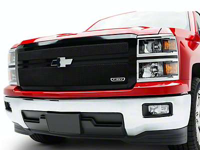 T-REX Upper Class Series 2-Bar Design Upper Replacement Mesh Grille - Black (14-15 Silverado 1500)