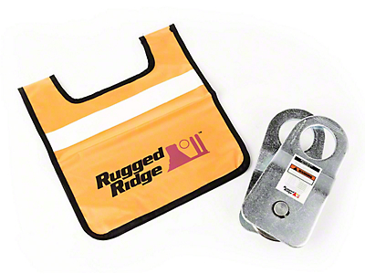 Rugged Ridge Snatch Block Pulley w/ Damper - 20,000 lb. Limit