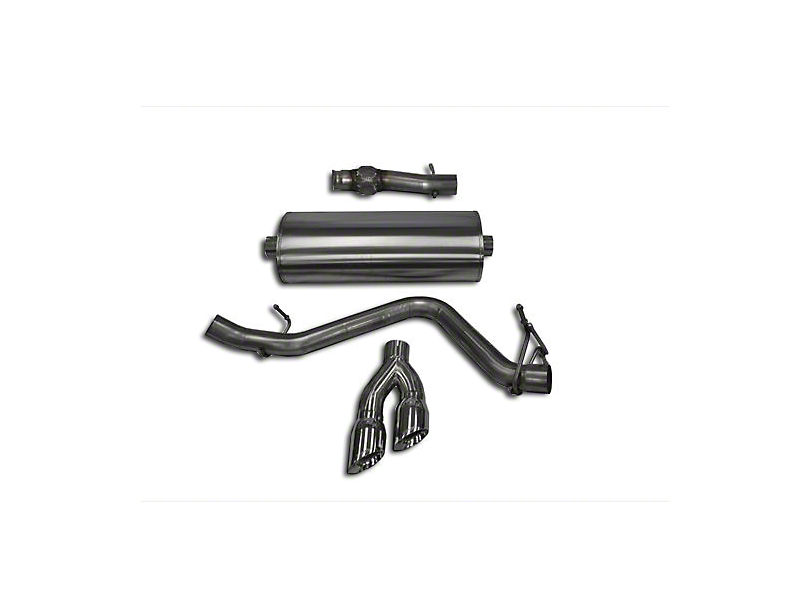 Corsa 3 in. Sport Single Exhaust System w/ Twin Polished Tips - Side Exit (14-18 5.3L Silverado 1500)