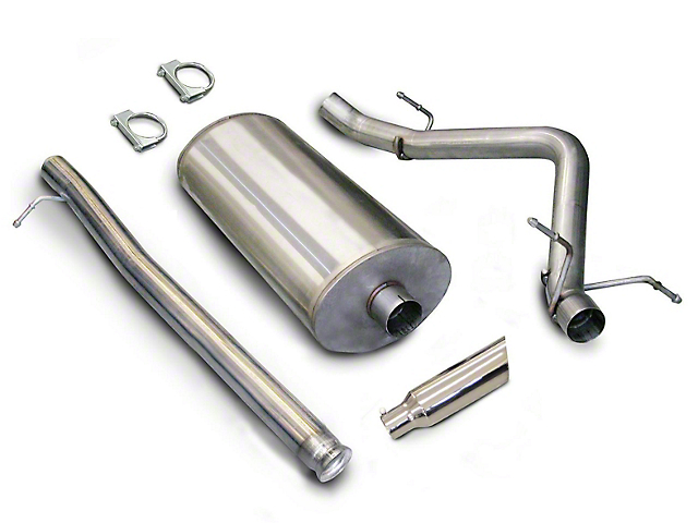 dB Performance by Corsa 3-Inch Sport Single Exhaust System with Polished Tip; Side Exit (07-13 4.8L Silverado 1500)