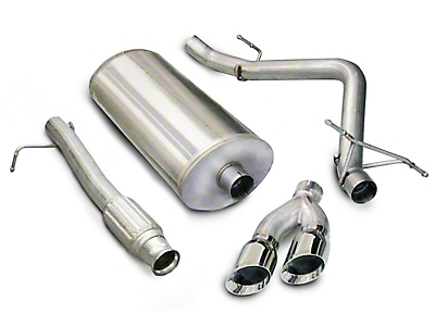 Corsa 3 in. Touring Single Exhaust System w/ Twin Polished Tips - Side Exit (09-13 4.8L Silverado 1500)