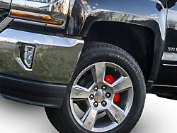 Red Caliper Covers; Front and Rear (14-18 Sierra 1500)