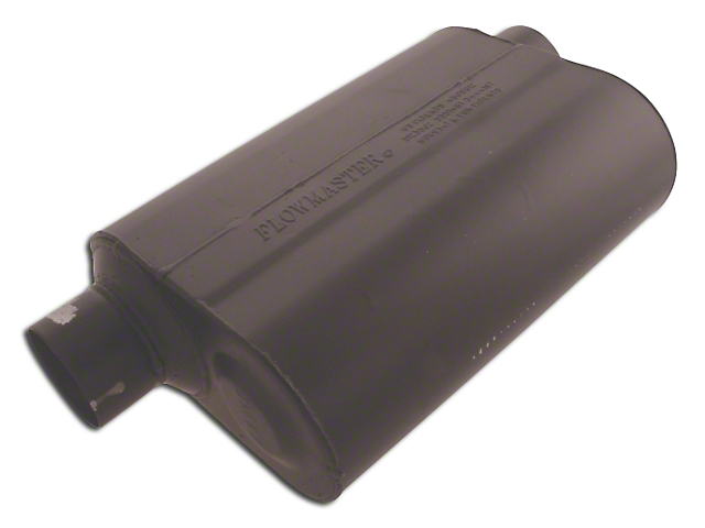 Flowmaster Super 40 Series Offset/Same Side Out Oval Muffler; 3-Inch (Universal Fitment)
