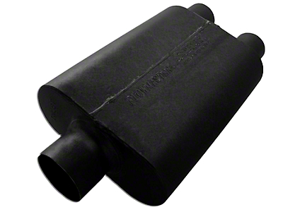 Flowmaster Super 44 Series Center/Dual Out Oval Muffler - 3.0 in. / 2.5 in. (Universal Fitment)