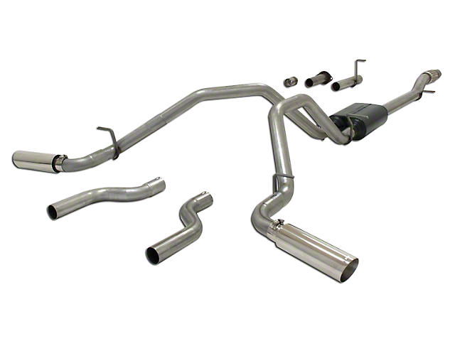 Flowmaster American Thunder Dual Exhaust System - Side/Rear Exit (07-13 5.3L Silverado 1500)