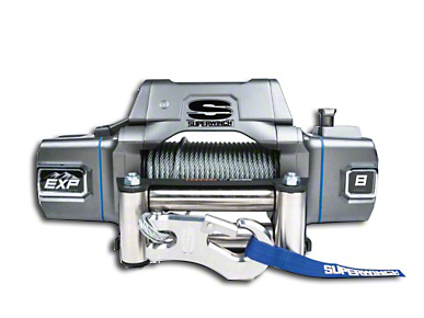 Superwinch EXP Series 8,000 lb. Winch w/ Wire Rope & Center Mount Solenoid Box
