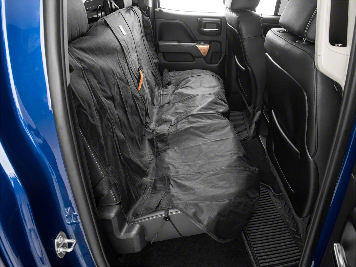 Wondrous Wander Rear Bench Seat Cover Black 07 20 Silverado 1500 Extended Double Cab Crew Cab Customarchery Wood Chair Design Ideas Customarcherynet