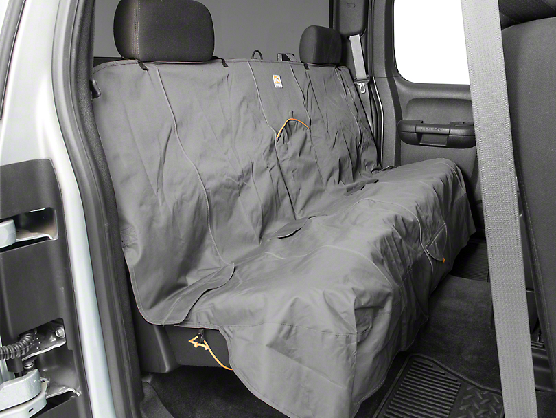 Extended Width Wander Rear Bench Seat Cover - Charcoal - 63 in. wide (07-19 Silverado 1500 Extended/Double Cab, Crew Cab)