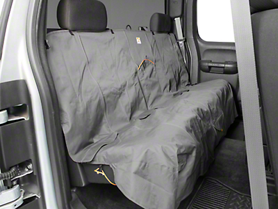 Kurgo Extended Width Wander Rear Bench Seat Cover - Charcoal - 63 in. wide (07-18 Silverado 1500 Extended/Double Cab, Crew Cab)