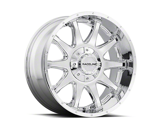 Raceline Shift Chrome 6-Lug Wheel; 17x8.5; 18mm Offset (14-18 Silverado 1500)