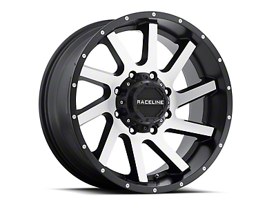 Raceline Twist Black Machined 6-Lug Wheel - 20x12 (99-18 Silverado 1500)