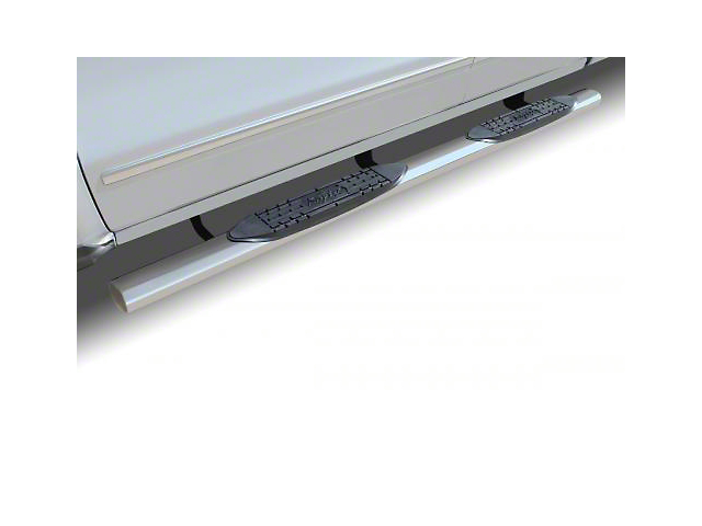 Raptor Series 4 in. Cab Length Oval Body Mount Side Step Bars - Polished Stainless (07-13 Silverado 1500)
