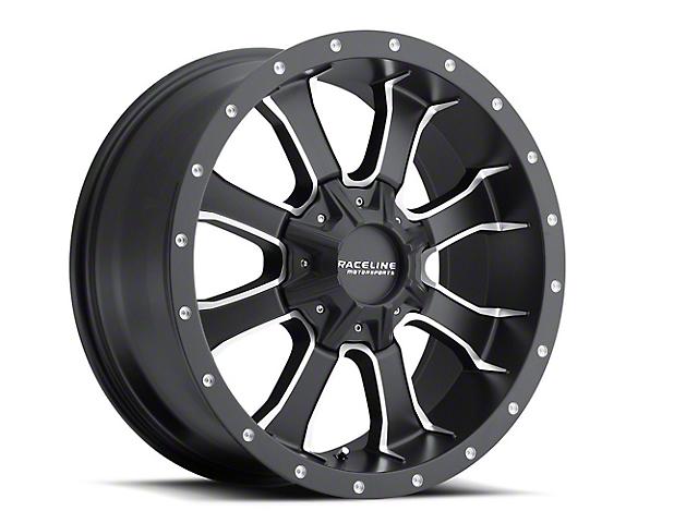 Raceline Mamba Black Milled 6-Lug Wheel -17x9 (99-18 Silverado 1500)