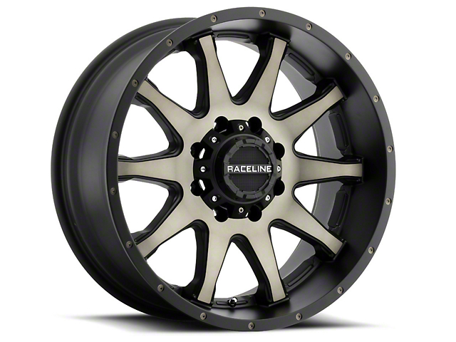 Raceline Shift Black Machined with Dark Tint 6-Lug Wheel; 17x9; -12mm Offset (07-13 Silverado 1500)