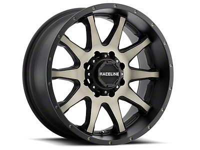 Raceline Shift Black Machined w/ Dark Tint 6-Lug Wheel - 17x9 (07-18 Silverado 1500)