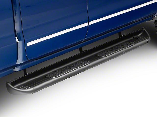 Raptor Series 7-Inch SSR Stainless Steel Running Boards; Rocker Mount; Textured Black (14-18 Silverado 1500)