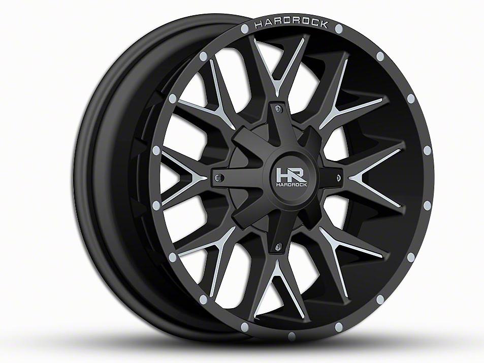 Hardrock Offroad H700 AFFLICTION Black Milled 6-Lug Wheel - 20x9 (99-18 Silverado 1500)