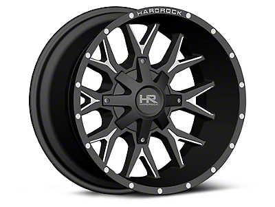 Hardrock Offroad H700 AFFLICTION Black Milled 6-Lug Wheel - 20x12 (07-18 Silverado 1500)