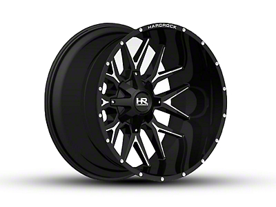 Hardrock Offroad H700 AFFLICTION Black Milled 6-Lug Wheel - 24x14 (99-18 Silverado 1500)