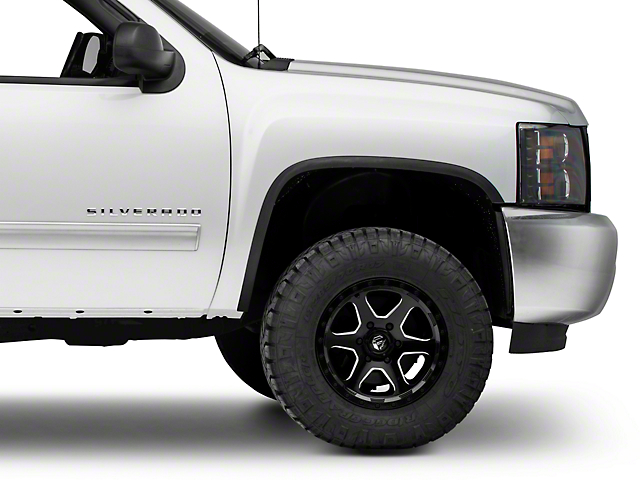 Stainless Steel Fender Trim; Matte Black (07-13 Silverado 1500)