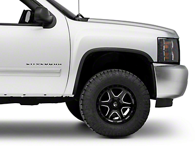 Carrichs Stainless Steel Fender Trim - Matte Black (07-13 Silverado 1500)