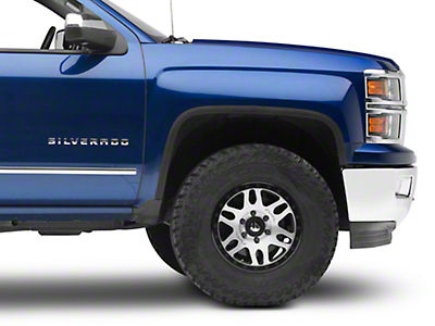 Carrichs Stainless Steel Fender Trim - Matte Black (14-15 Silverado 1500)