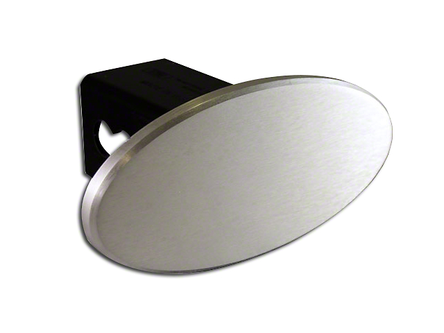 Defenderworx 3.5 in. Oval Hitch Cover - Brushed (99-19 Silverado 1500)