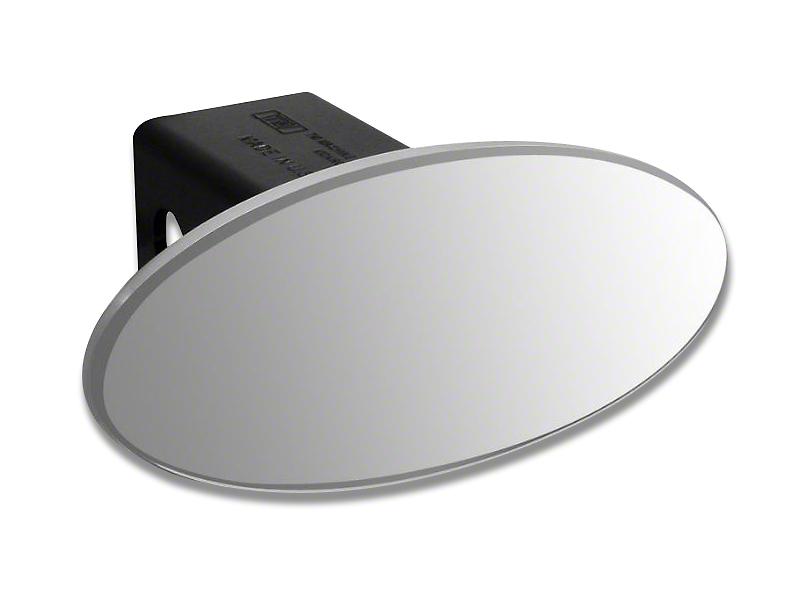 Defenderworx 3.5 in. Oval Hitch Cover - Polished (99-18 Silverado 1500)