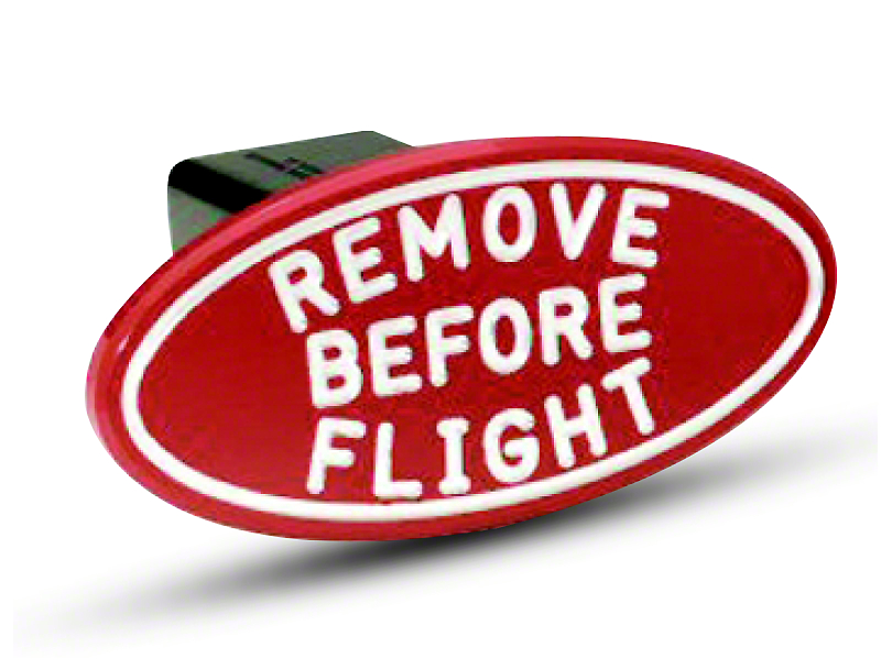 Defenderworx Oval Remove Before Flight Hitch Cover (99-19 Silverado 1500)
