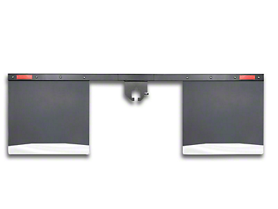 Husky 2 in. Receiver Hitch Mount Mud Flaps - 74 in. Wide (07-18 Silverado 1500)