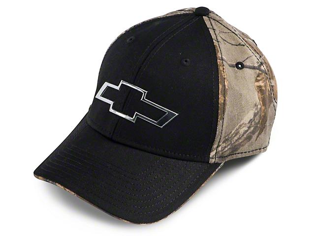 Chevy Bowtie Hat - Chrome & Black