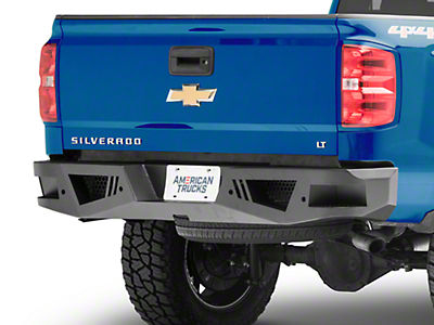 Black Horse Off Road Armour Rear HD Bumper (15-18 Silverado 1500)