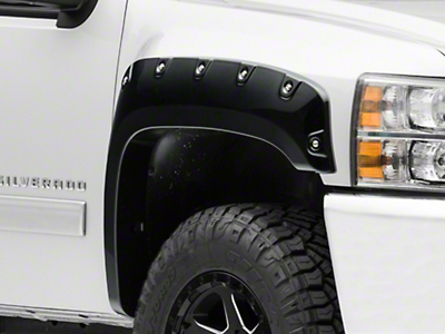 Black Horse Off Road Pocket Style Fender Flares - Matte Black (07-13 Silverado 1500)