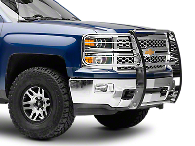 Black Horse Off Road Grille Guard - Stainless Steel (14-18 Silverado 1500)