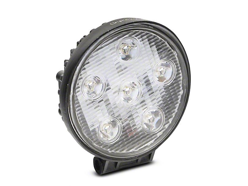 Alteon 4 Inch Work Visor 6 LED Round Light; 60 Degree Flood Beam