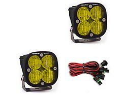Baja Designs Squadron Sport Amber LED Lights; Wide Cornering Beam (Universal; Some Adaptation May Be Required)