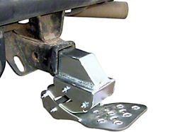 M.O.R.E. Receiver Hitch Hide-A-Step; Black (Universal; Some Adaptation May Be Required)