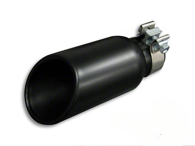 4x10-Inch Black Exhaust Tip; 2.75-Inch Connection (Universal Fitment)