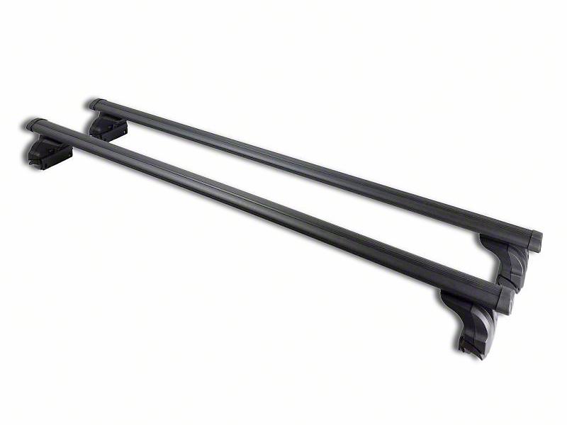 Black Horse Off Road Adjustable Roof Cross Bars - Black (07-18 Silverado 1500)