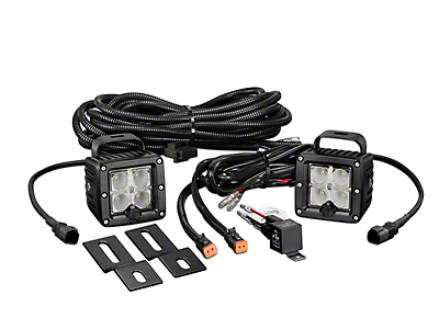 KC HiLiTES 3 in. C-Series C3 LED Back Up Light - Pair (07-18 Silverado 1500)