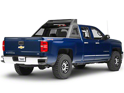 Barricade Aluminum HD Chase Rack - Textured Black (07-18 Silverado 1500)