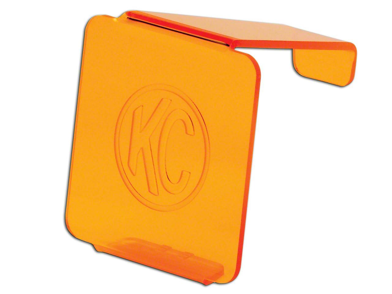 KC HiLiTES Hard Cover for 3 in. LZR Cube Light - Orange (07-18 Silverado 1500)