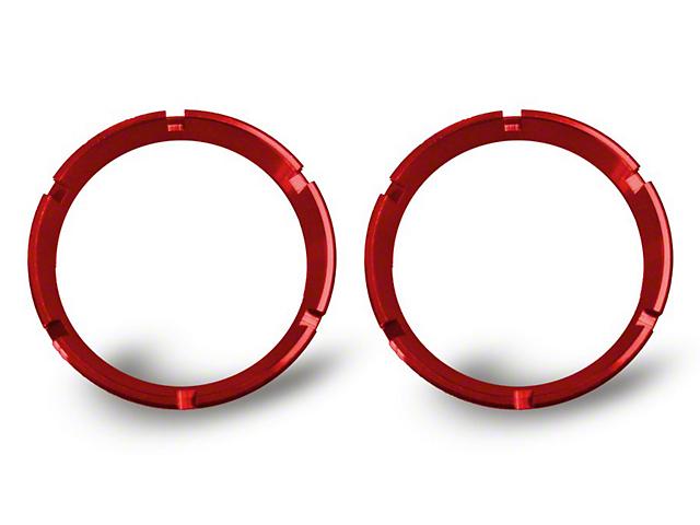 KC HiLiTES KC Flex Series Bezel Ring; Red