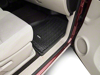 Rugged Ridge All-Terrain Front Floor Liners - Black (07-13 Silverado 1500)