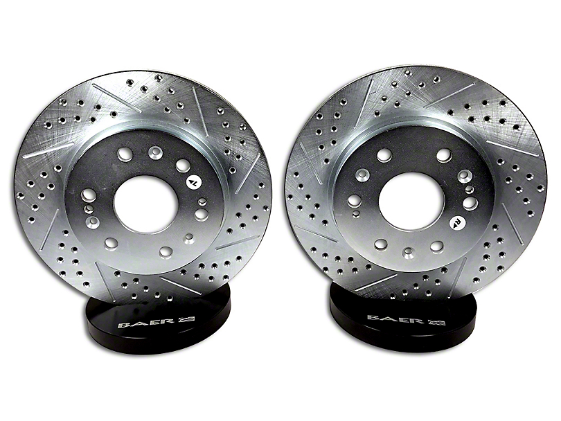 Baer Sport Drilled & Slotted Rotors - Front Pair (07-18 Silverado 1500)