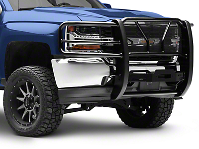 Westin HDX Winch Mount Grille Guard - Black (16-18 Silverado 1500)