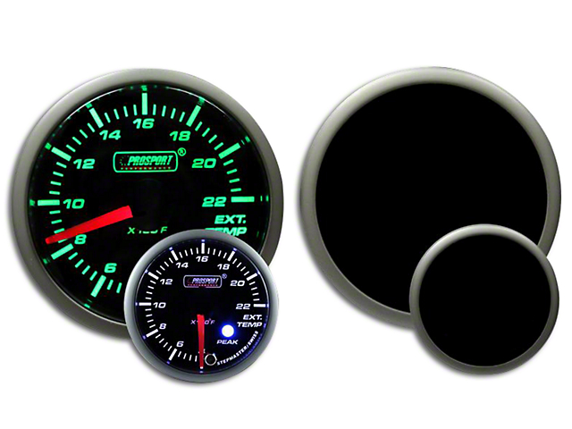 Prosport Dual Color EGT Premium Boost Gauge - Green/White (99-19 Silverado 1500)