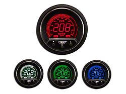 Prosport 52mm Premium EVO Series Water Temperature Gauge; Electrical; Blue/Red/Green/White (Universal; Some Adaptation May Be Required)