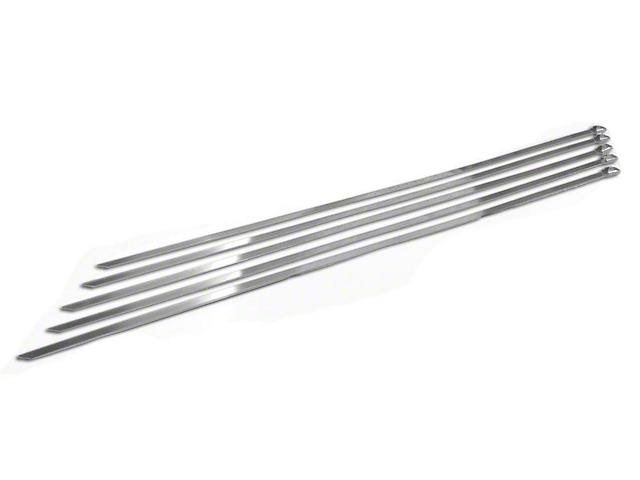 Prosport Stainless Steel Zip Ties; 14-Inch