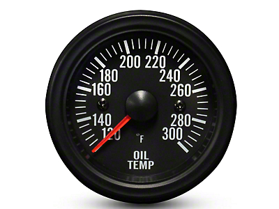 Prosport White LED Oil Temperature Gauge - Electrical (99-18 Silverado 1500)